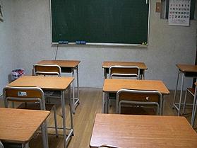 集団クラスの教室風景です。(教室の後ろからの風景です。)