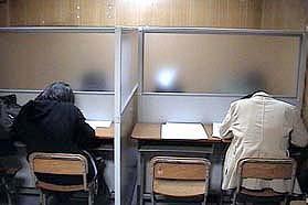 自習室の風景です。365日開放しています。